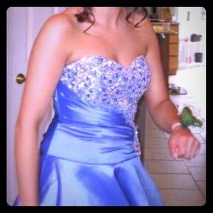 Prom dress- size 8 multicolor with corset back!